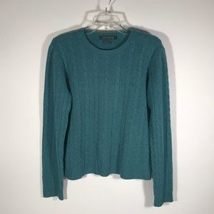 Ralph Lauren Cashmere Cable Knit Sweater Women M